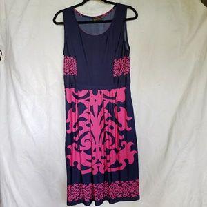 Reborn aloha print sleeveless midi dress XL, #A304